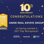 Unire Group named as a Top Workplace for 3rd Consecutive Year!